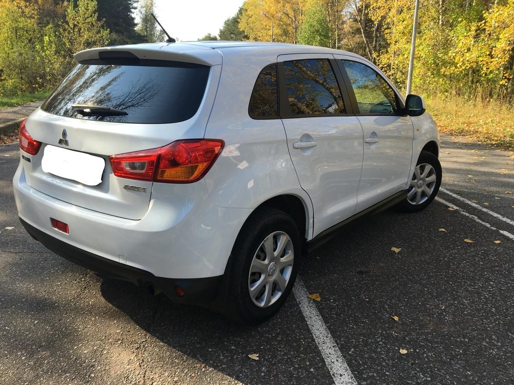 Подержанный Mitsubishi ASX, хорошее состояние, белый , 2013 года выпуска, цена 740 000 руб. в республике Татарстане