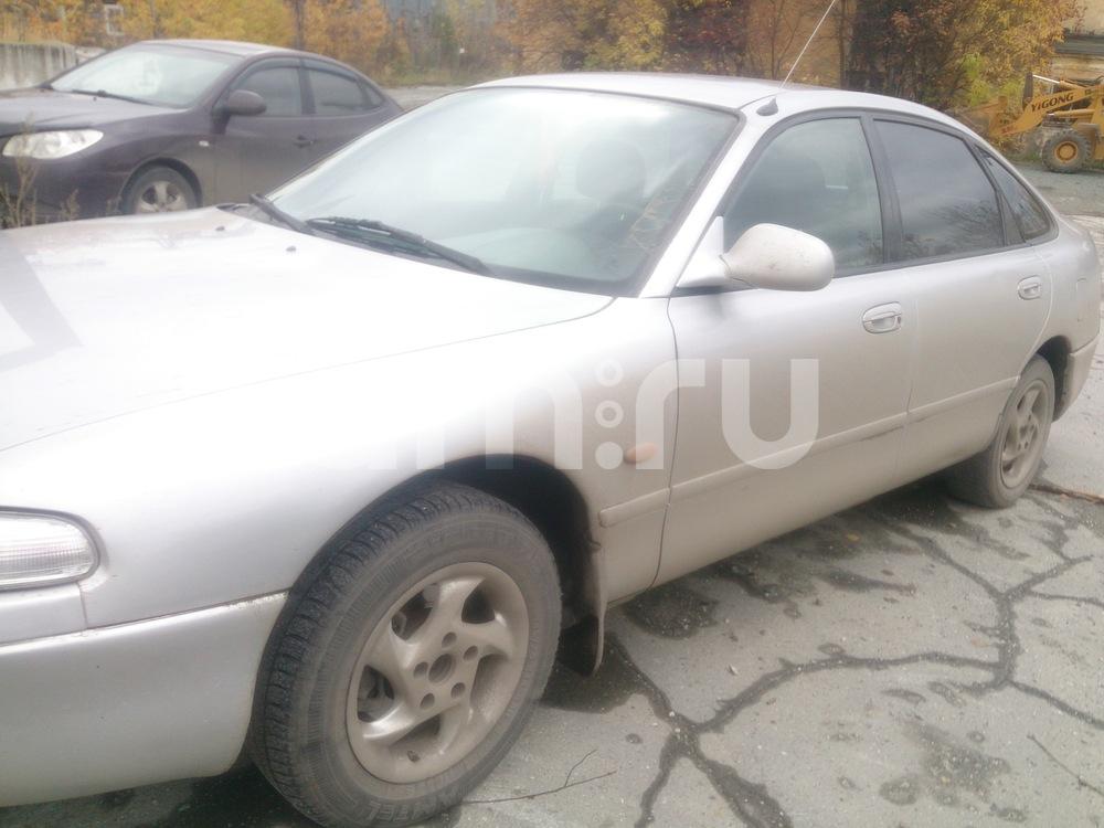 Подержанный Mazda 626, хорошее состояние, серебряный металлик, 1996 года выпуска, цена 135 000 руб. в Челябинской области