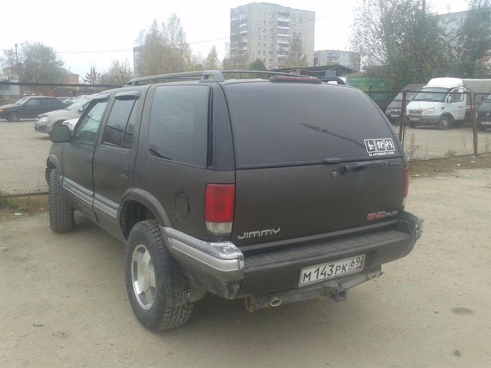 Подержанный GMC Jimmy, хорошее состояние, черный , 1996 года выпуска, цена 105 000 руб. в Смоленской области