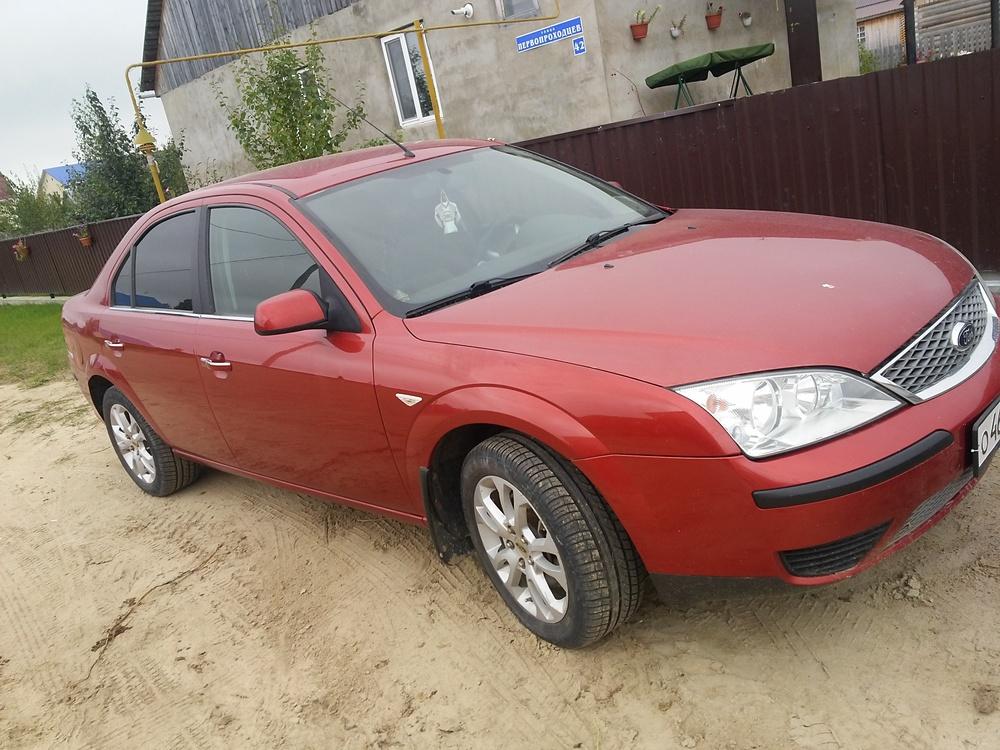 Подержанный Ford Mondeo, хорошее состояние, красный , 2006 года выпуска, цена 300 000 руб. в ао. Ханты-Мансийском Автономном округе - Югре