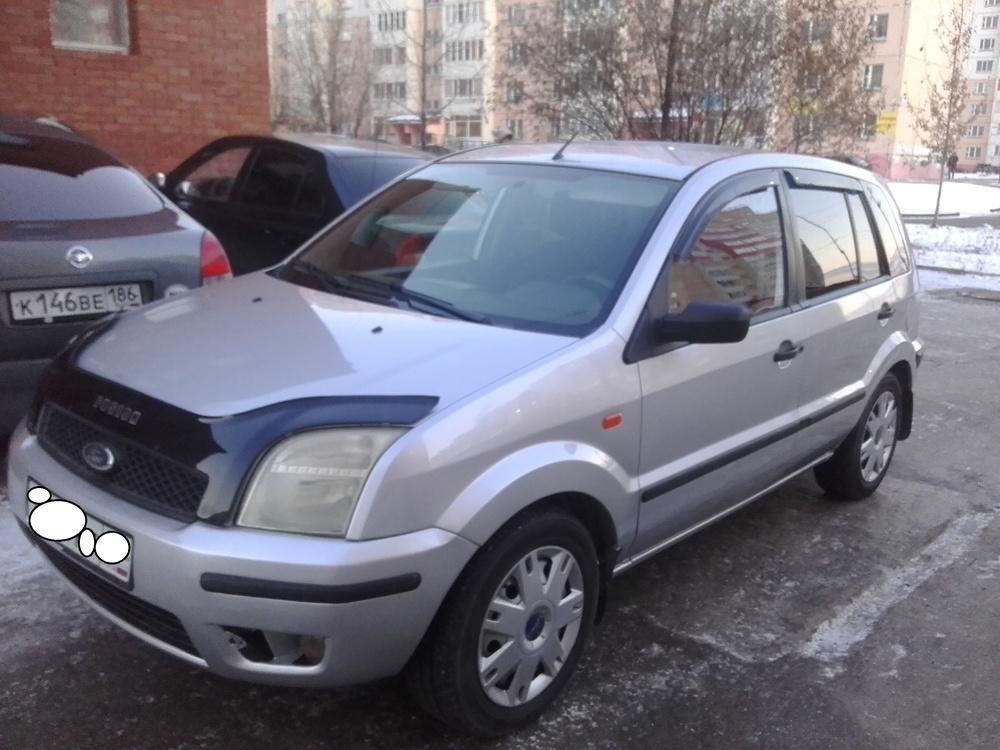 Подержанный Ford Fusion, хорошее состояние, серебряный , 2006 года выпуска, цена 220 000 руб. в ао. Ханты-Мансийском Автономном округе - Югре