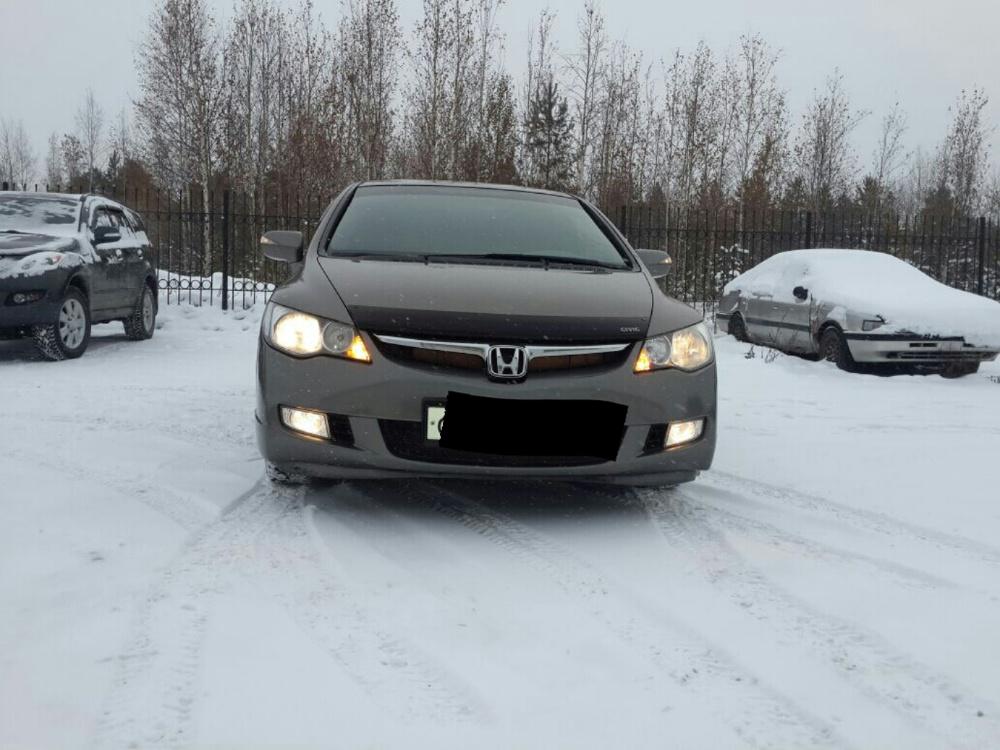 Подержанный Honda Civic, хорошее состояние, серый , 2007 года выпуска, цена 420 000 руб. в ао. Ханты-Мансийском Автономном округе - Югре