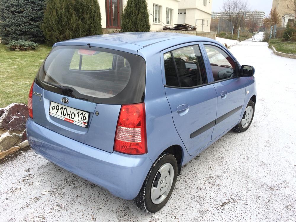 Подержанный Kia Picanto, отличное состояние, голубой металлик, 2007 года выпуска, цена 198 000 руб. в республике Татарстане