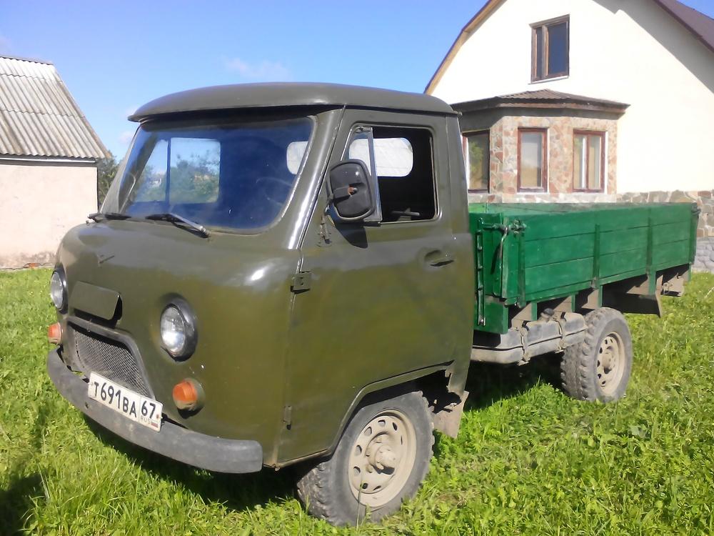 Подержанный УАЗ 452, среднее состояние, зеленый , 1986 года выпуска, цена 110 000 руб. в Смоленской области