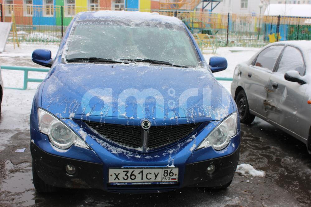 Подержанный SsangYong Actyon, хорошее состояние, синий , 2008 года выпуска, цена 400 000 руб. в ао. Ханты-Мансийском Автономном округе - Югре