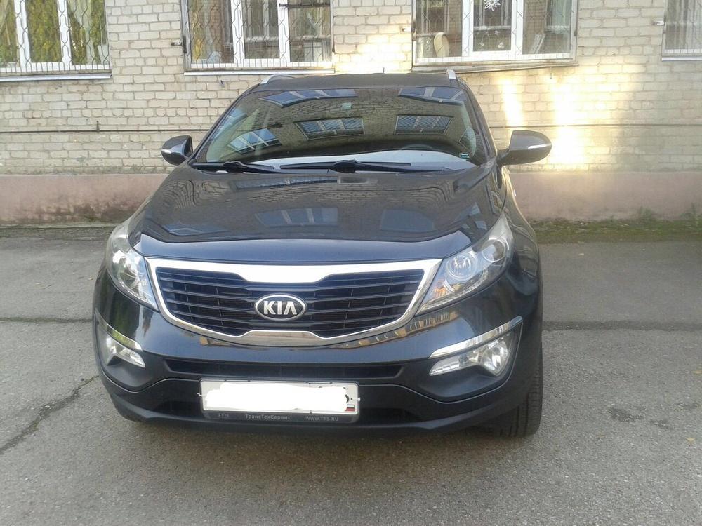 Подержанный Kia Sportage, отличное состояние, черный , 2013 года выпуска, цена 1 100 000 руб. в республике Татарстане