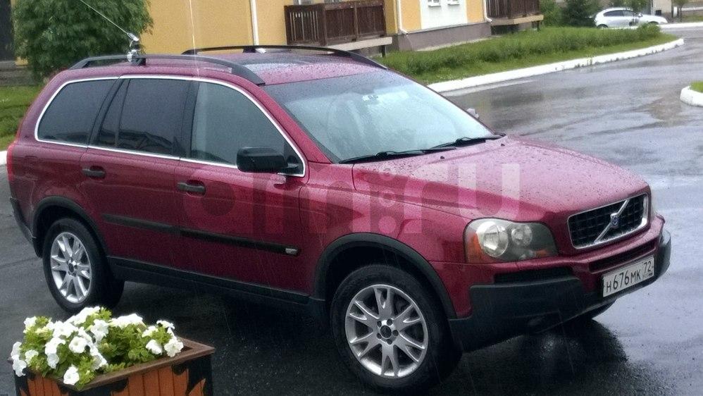 Подержанный Volvo XC90, отличное состояние, красный металлик, 2004 года выпуска, цена 600 000 руб. в ао. Ханты-Мансийском Автономном округе - Югре