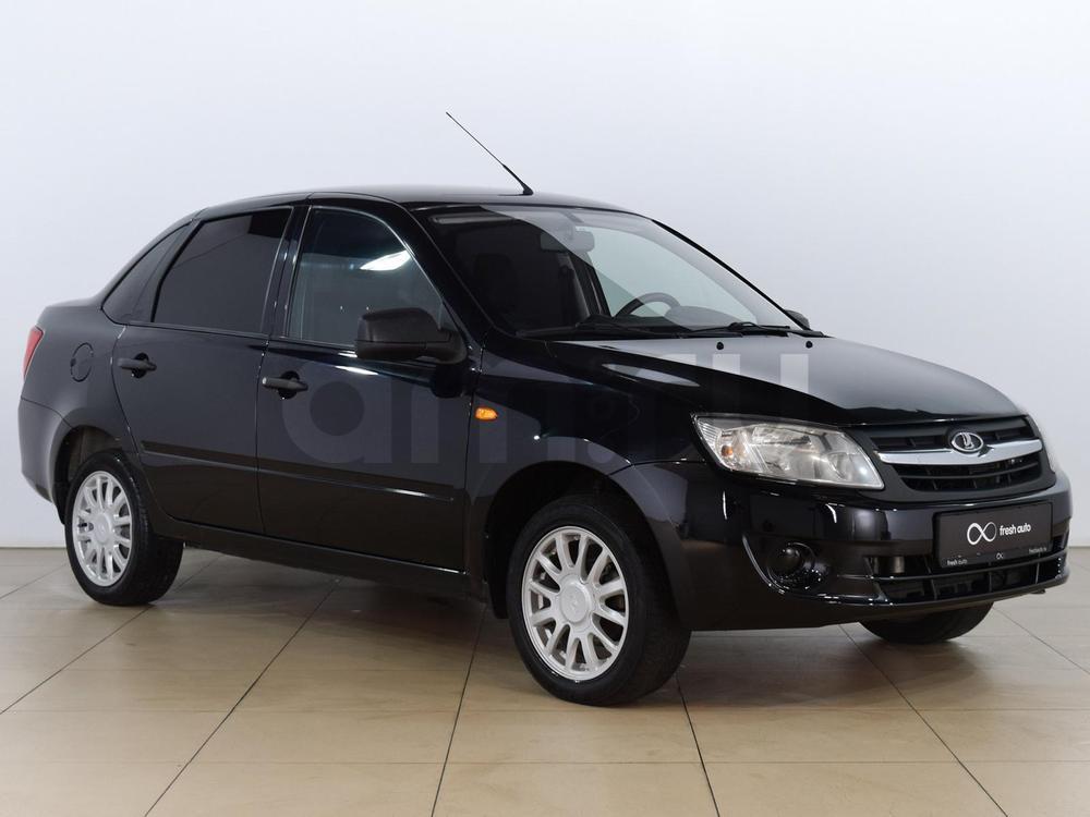 ВАЗ (Lada) Granta с пробегом, черный , отличное состояние, 2014 года выпуска, цена 309 000 руб. в автосалоне  ()