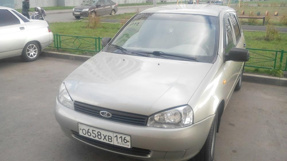 Подержанный ВАЗ (Lada) Kalina, отличное состояние, бежевый , 2012 года выпуска, цена 210 000 руб. в республике Татарстане