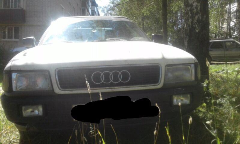 Подержанный Audi 80, отличное состояние, белый , 1987 года выпуска, цена 130 000 руб. в Смоленской области