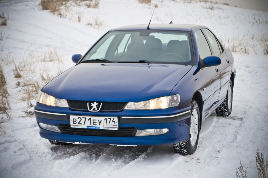 Подержанный Peugeot 406, хорошее состояние, синий , 1999 года выпуска, цена 187 000 руб. в Челябинской области