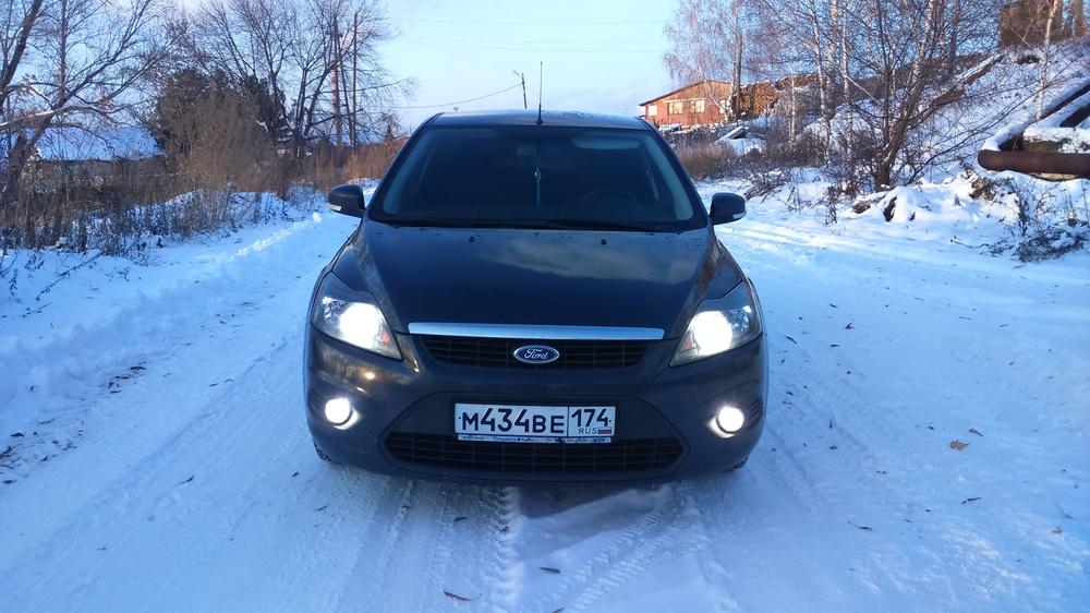 Подержанный Ford Focus, отличное состояние, серый , 2008 года выпуска, цена 350 000 руб. в Челябинской области