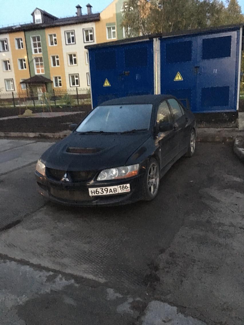 Подержанный Mitsubishi Lancer Evolution, хорошее состояние, черный , 2003 года выпуска, цена 660 000 руб. в ао. Ханты-Мансийском Автономном округе - Югре