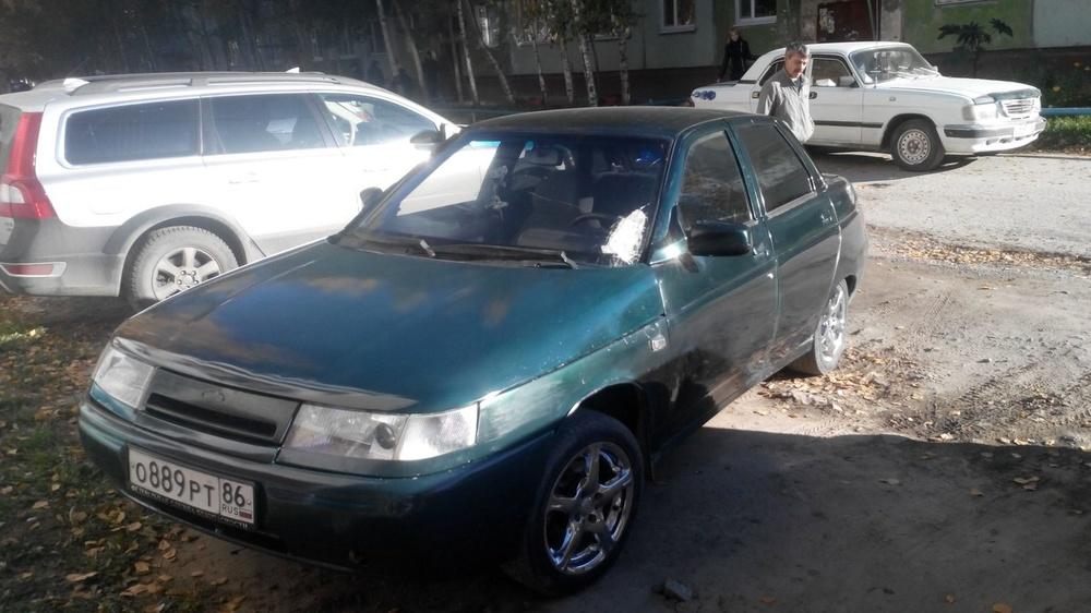 Подержанный ВАЗ (Lada) 2110, среднее состояние, зеленый , 2004 года выпуска, цена 70 000 руб. в ао. Ханты-Мансийском Автономном округе - Югре