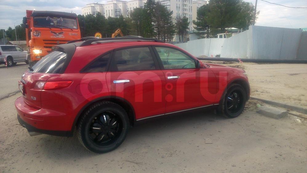 Подержанный Infiniti FX-Series, хорошее состояние, красный , 2003 года выпуска, цена 530 000 руб. в ао. Ханты-Мансийском Автономном округе - Югре