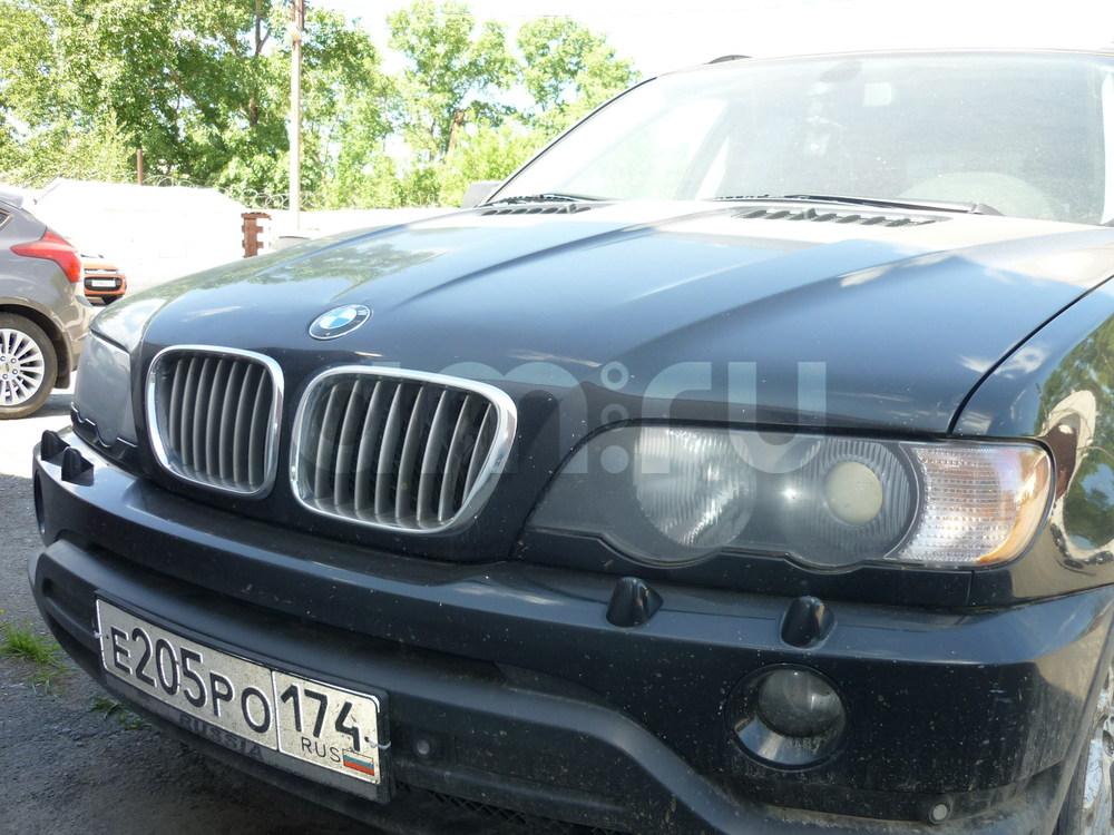 Подержанный BMW X5, хорошее состояние, черный , 2003 года выпуска, цена 455 000 руб. в Челябинской области
