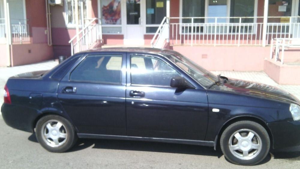 Подержанный ВАЗ (Lada) Priora, отличное состояние, черный металлик, 2008 года выпуска, цена 135 000 руб. в республике Татарстане