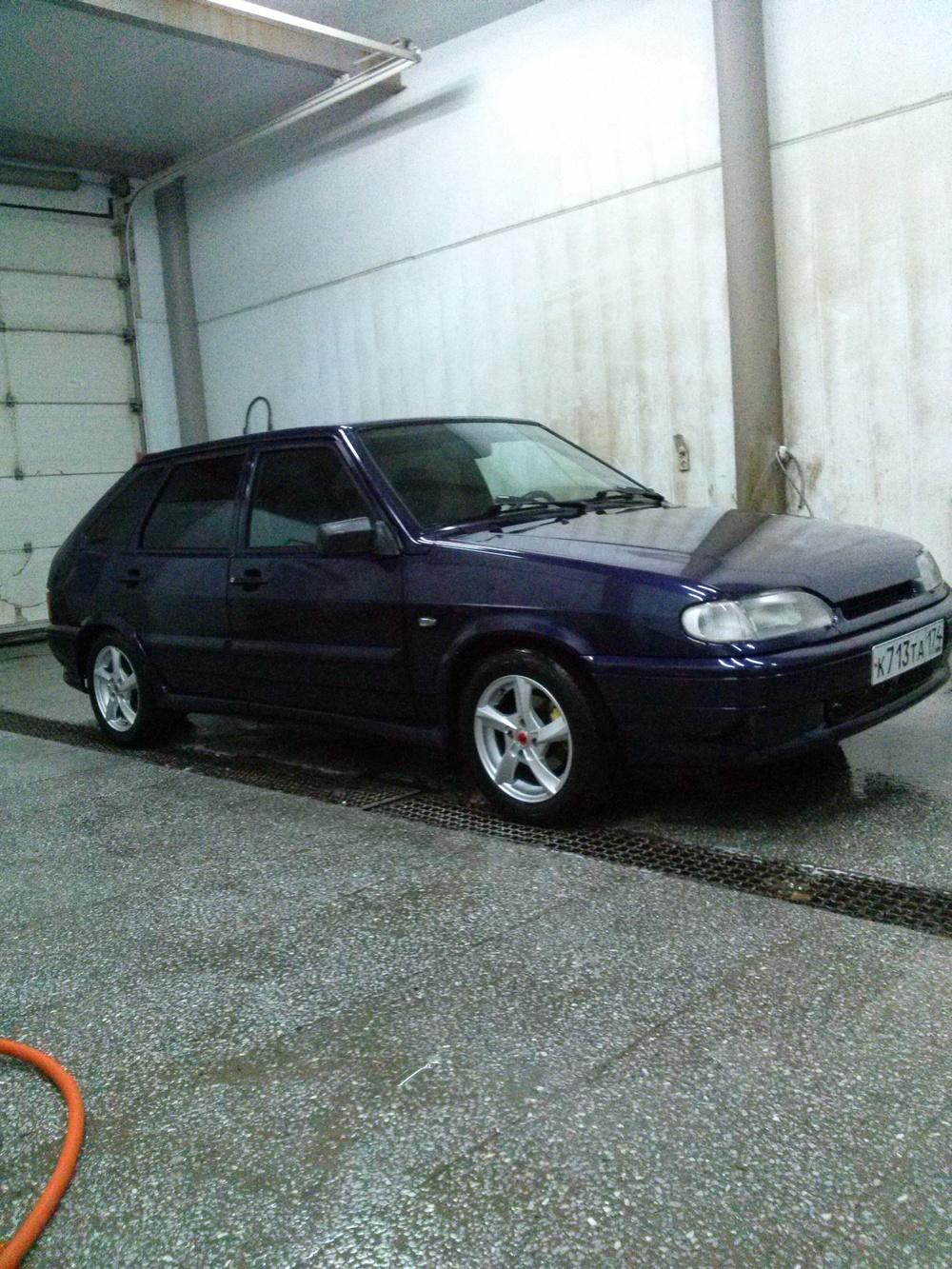 Подержанный ВАЗ (Lada) 2114, хорошее состояние, фиолетовый , 2013 года выпуска, цена 200 000 руб. в Челябинской области