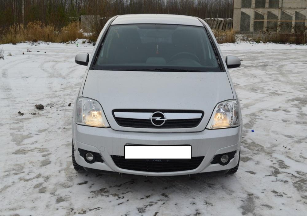 Подержанный Opel Meriva, отличное состояние, серебряный металлик, 2007 года выпуска, цена 300 000 руб. в ао. Ханты-Мансийском Автономном округе - Югре