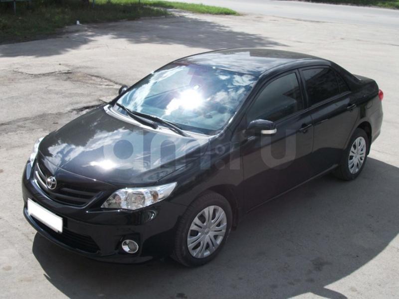 Подержанный Toyota Corolla, отличное состояние, черный , 2008 года выпуска, цена 450 000 руб. в Челябинской области