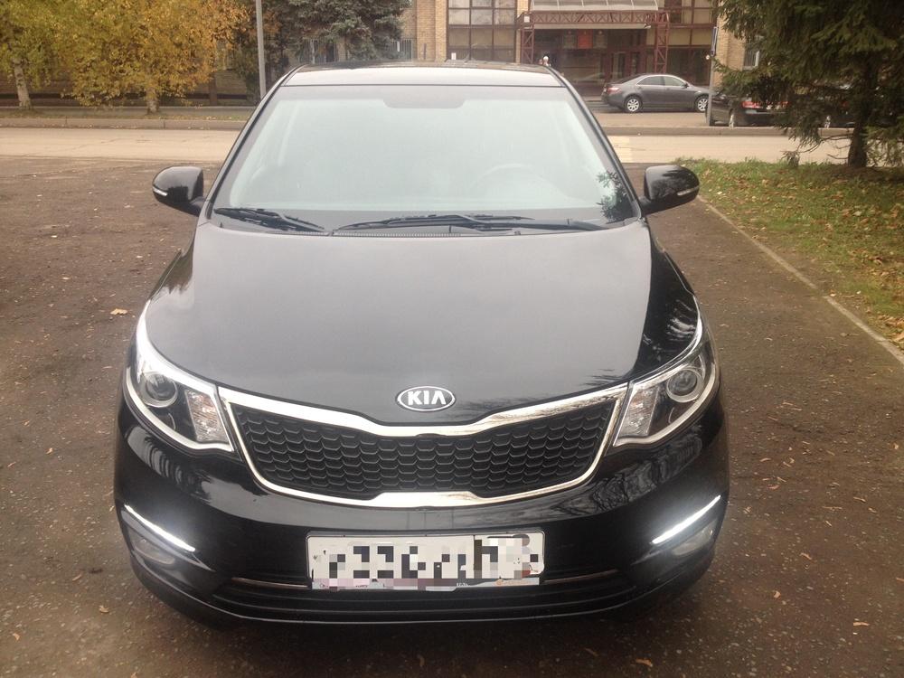 Подержанный Kia Rio, отличное состояние, черный перламутр, 2015 года выпуска, цена 640 000 руб. в республике Татарстане
