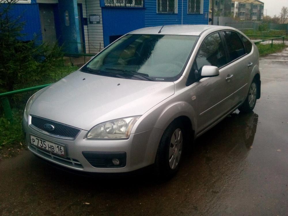 Подержанный Ford Focus, хорошее состояние, серебряный , 2007 года выпуска, цена 320 000 руб. в республике Татарстане