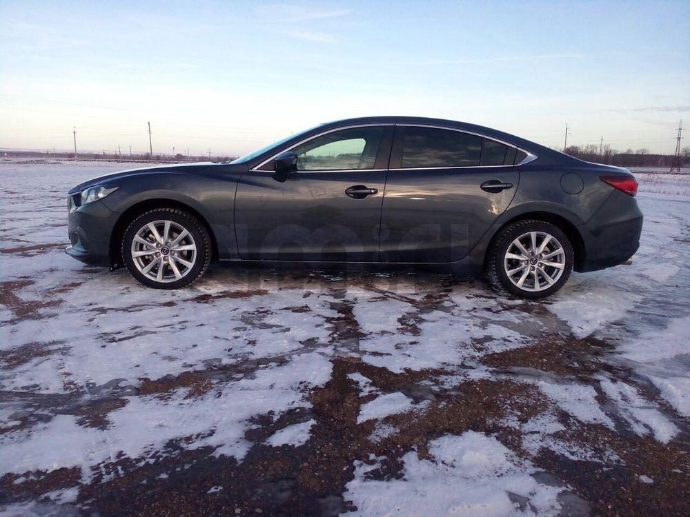 Подержанный Mazda 6, отличное состояние, мокрый асфальт металлик, 2016 года выпуска, цена 1 350 000 руб. в республике Татарстане