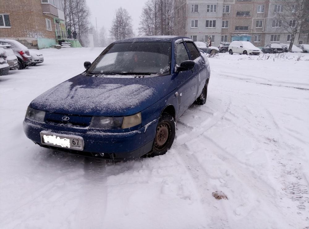Подержанный ВАЗ (Lada) 2110, среднее состояние, синий , 2002 года выпуска, цена 70 000 руб. в Смоленской области