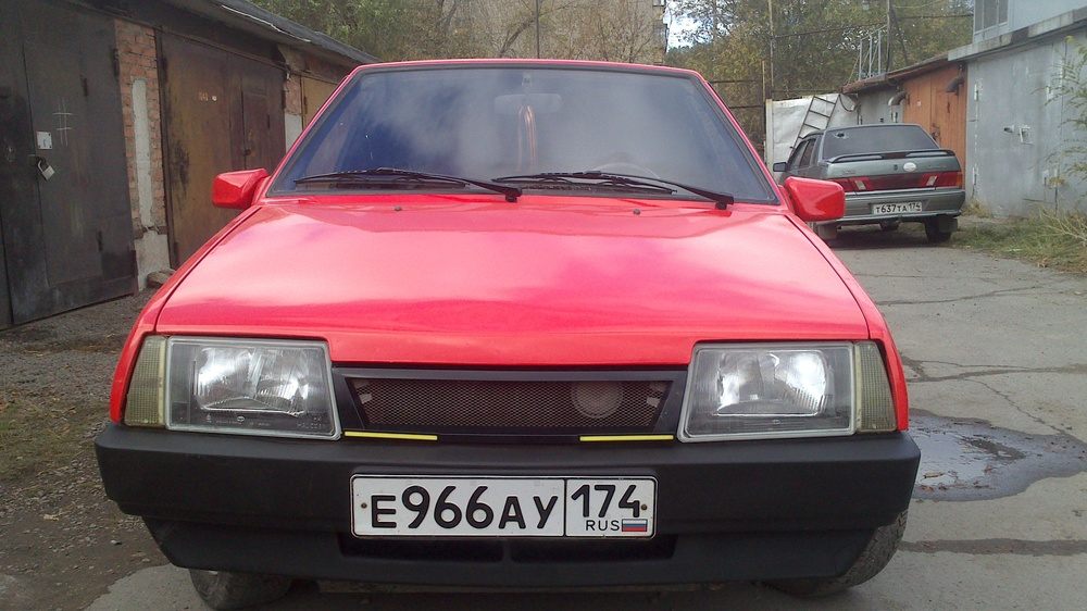 Подержанный ВАЗ (Lada) 2109, отличное состояние, красный , 1995 года выпуска, цена 57 000 руб. в Челябинской области