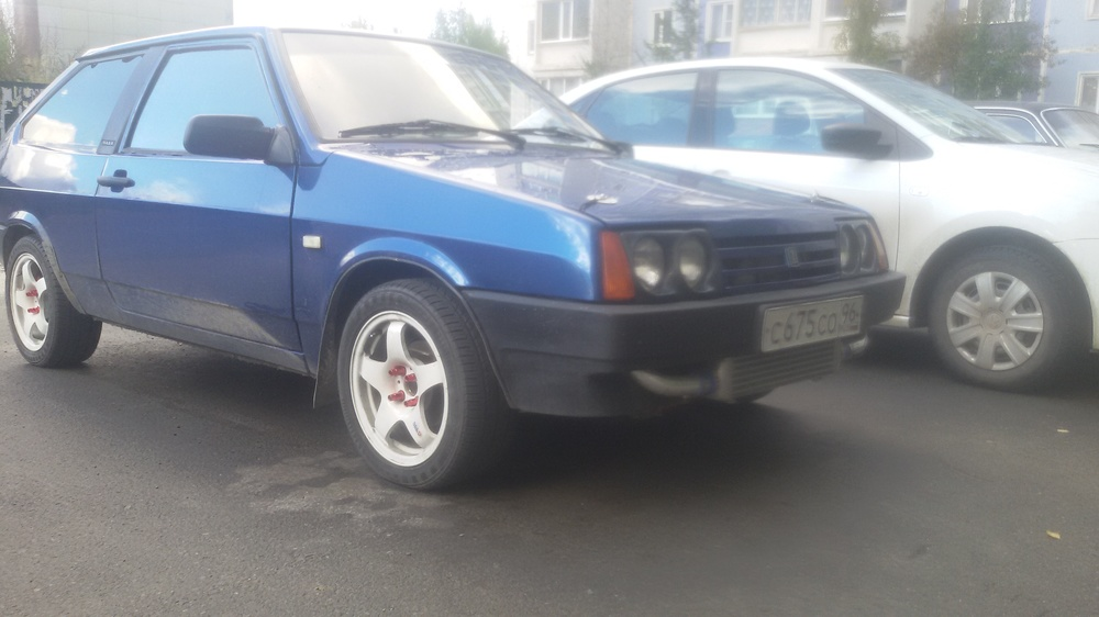 Подержанный ВАЗ (Lada) 2108, хорошее состояние, синий металлик, 1996 года выпуска, цена 150 000 руб. в ао. Ханты-Мансийском Автономном округе - Югре