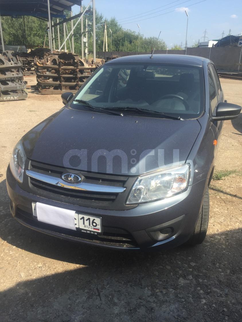 Подержанный ВАЗ (Lada) Granta, отличное состояние, серый металлик, 2015 года выпуска, цена 340 000 руб. в республике Татарстане