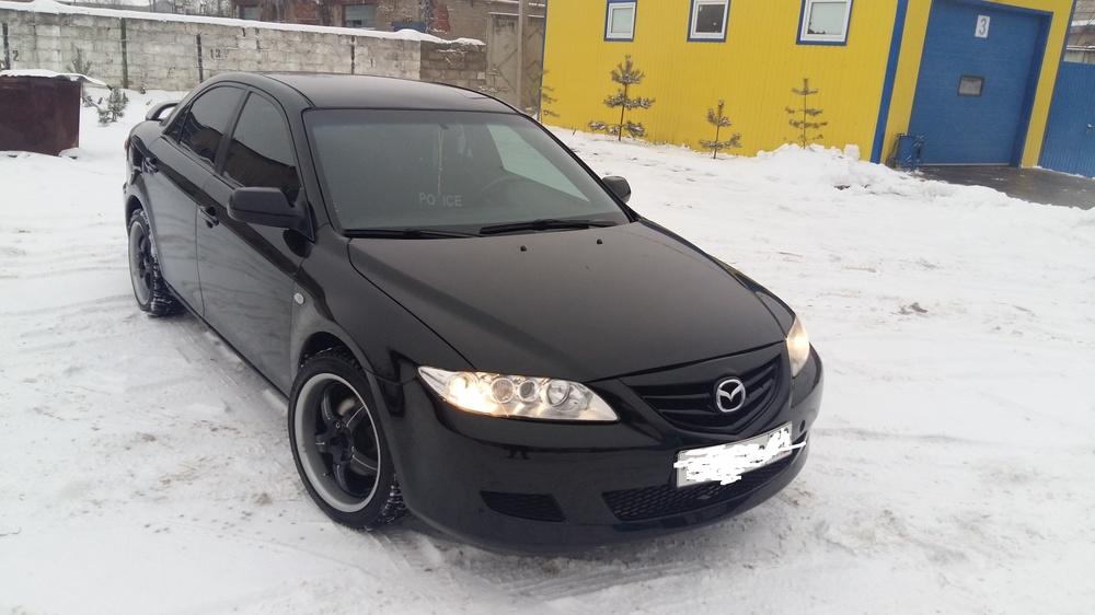 Подержанный Mazda 6, отличное состояние, черный , 2003 года выпуска, цена 270 000 руб. в Смоленской области
