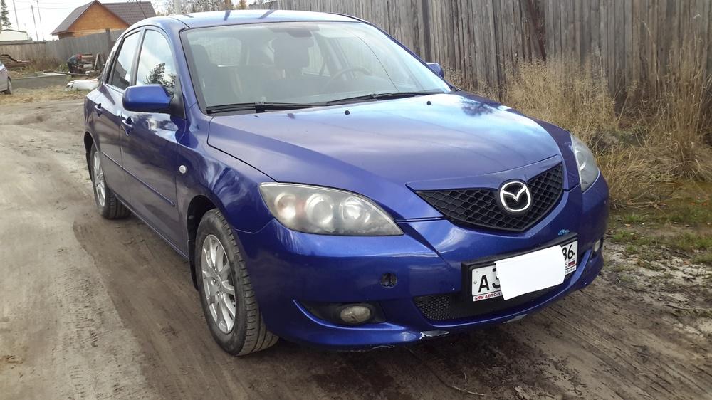 Подержанный Mazda 3, хорошее состояние, синий , 2007 года выпуска, цена 370 000 руб. в ао. Ханты-Мансийском Автономном округе - Югре