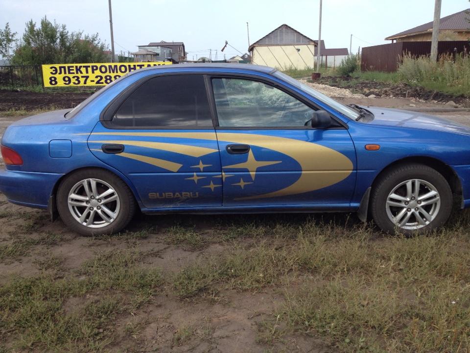 Подержанный Subaru Impreza, отличное состояние, синий металлик, 1998 года выпуска, цена 200 000 руб. в республике Татарстане