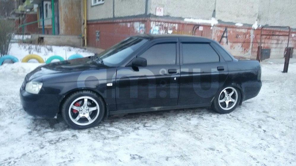 Подержанный ВАЗ (Lada) Priora, отличное состояние, черный , 2011 года выпуска, цена 245 000 руб. в Челябинской области