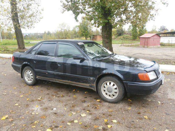 Подержанный Audi 100, среднее состояние, черный , 1992 года выпуска, цена 130 000 руб. в Смоленской области