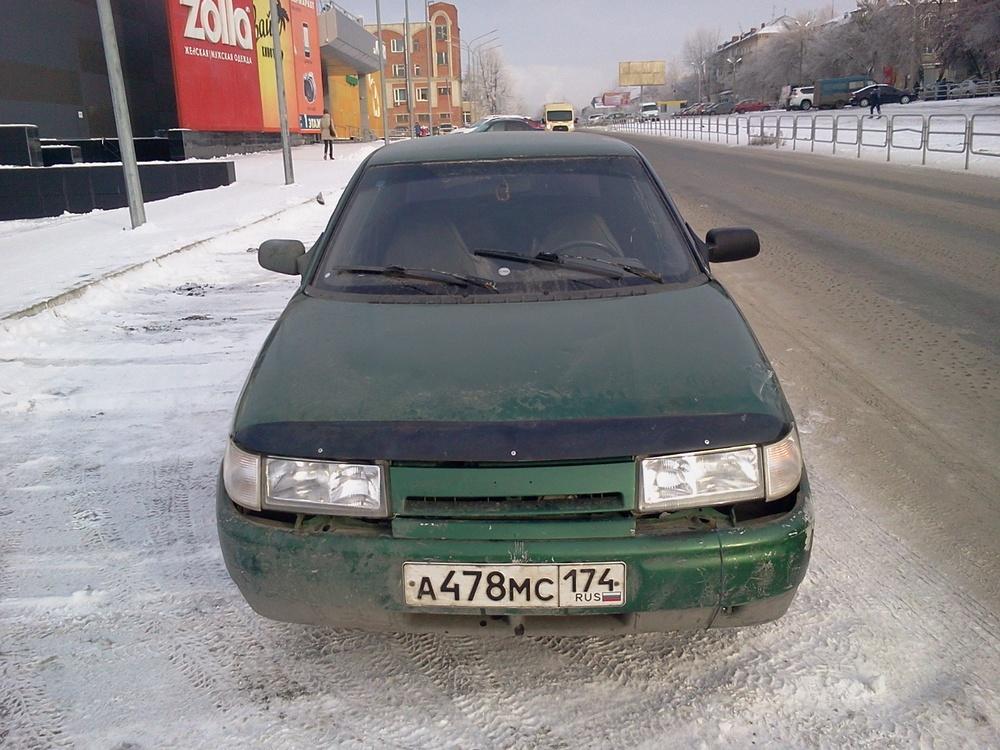 Подержанный ВАЗ (Lada) 2110, плохое состояние, зеленый металлик, 1998 года выпуска, цена 45 000 руб. в Челябинской области