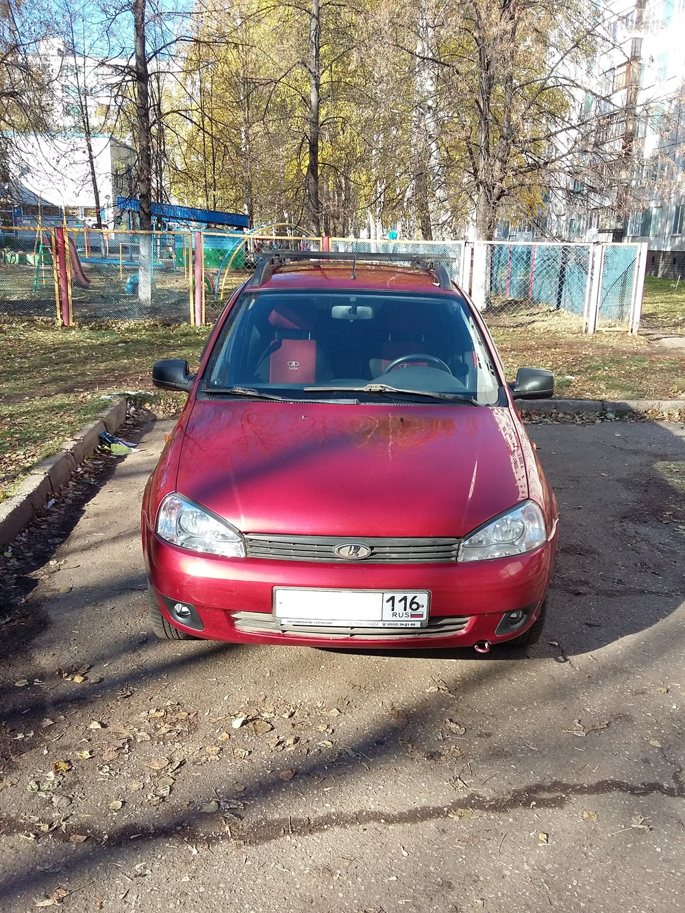 Подержанный ВАЗ (Lada) Kalina, хорошее состояние, красный , 2011 года выпуска, цена 205 000 руб. в республике Татарстане