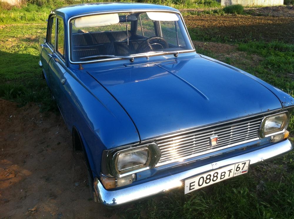 Подержанный Москвич 408, хорошее состояние, синий , 1972 года выпуска, цена 40 000 руб. в Смоленской области