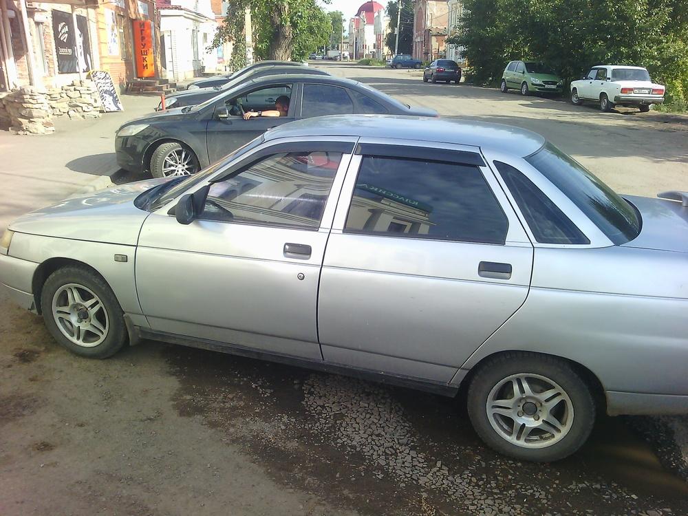 Подержанный ВАЗ (Lada) 2110, хорошее состояние, серебряный , 2007 года выпуска, цена 110 000 руб. в Челябинской области