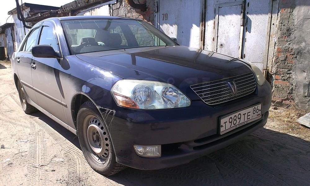 Подержанный Toyota Mark II, отличное состояние, синий , 2001 года выпуска, цена 380 000 руб. в ао. Ханты-Мансийском Автономном округе - Югре