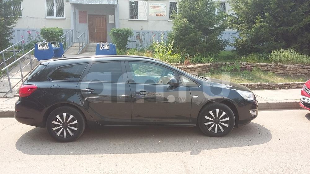 Подержанный Opel Astra, отличное состояние, черный перламутр, 2012 года выпуска, цена 590 000 руб. в республике Татарстане