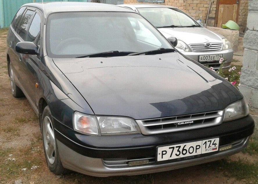 Подержанный Toyota Caldina, отличное состояние, синий , 2002 года выпуска, цена 240 000 руб. в Челябинской области