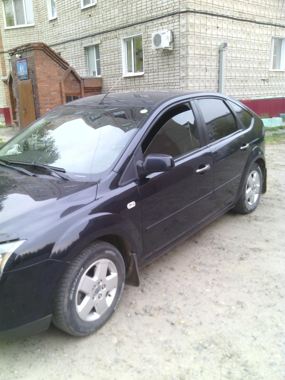 Подержанный Ford Focus, хорошее состояние, синий , 2007 года выпуска, цена 310 000 руб. в ао. Ханты-Мансийском Автономном округе - Югре