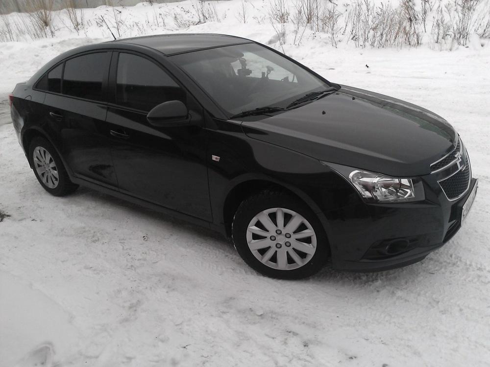 Подержанный Chevrolet Cruze, хорошее состояние, черный металлик, 2012 года выпуска, цена 515 000 руб. в Челябинской области