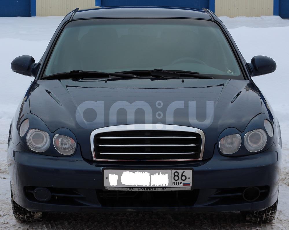 Подержанный Hyundai Sonata, хорошее состояние, синий , 2008 года выпуска, цена 290 000 руб. в ао. Ханты-Мансийском Автономном округе - Югре