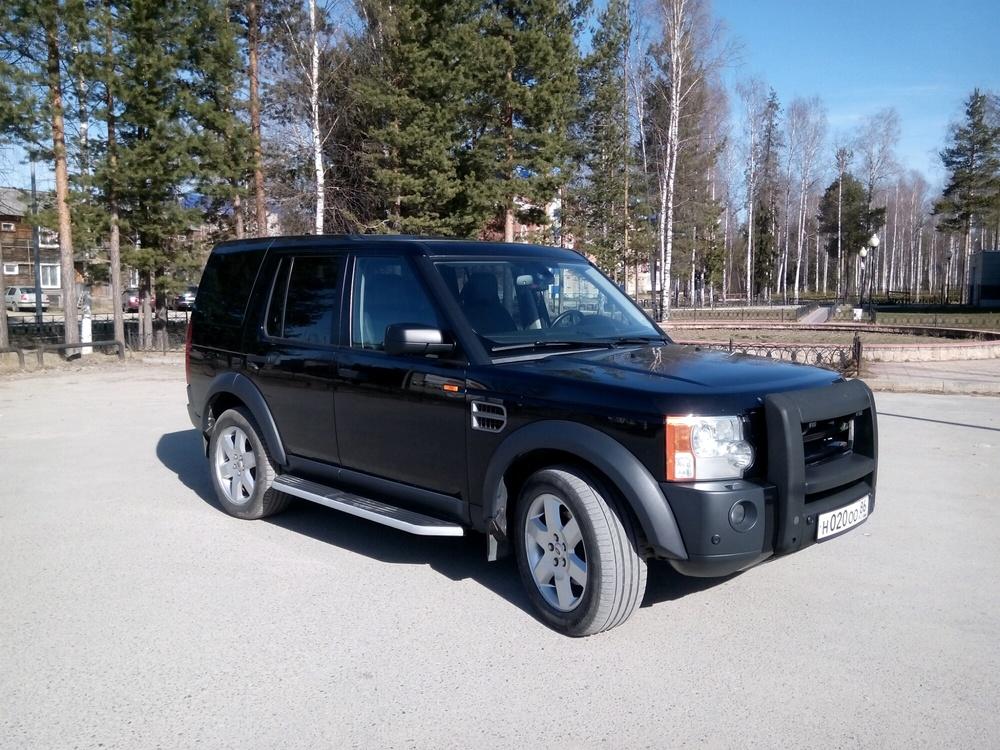 Подержанный Land Rover Discovery, отличное состояние, черный , 2007 года выпуска, цена 950 000 руб. в ао. Ханты-Мансийском Автономном округе - Югре