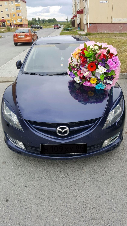 Подержанный Mazda 6, среднее состояние, синий перламутр, 2007 года выпуска, цена 450 000 руб. в ао. Ханты-Мансийском Автономном округе - Югре