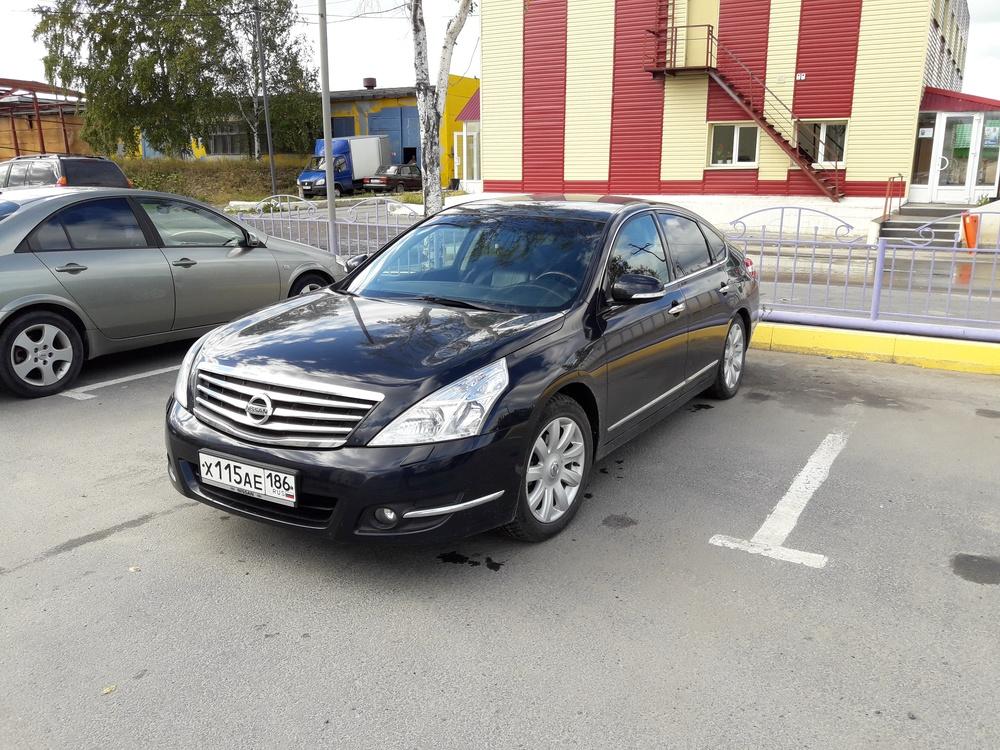Подержанный Nissan Teana, хорошее состояние, черный металлик, 2008 года выпуска, цена 630 000 руб. в ао. Ханты-Мансийском Автономном округе - Югре
