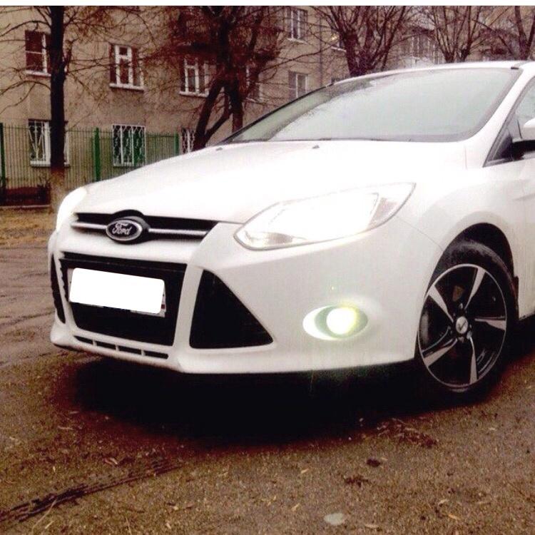 Подержанный Ford Focus, отличное состояние, белый , 2012 года выпуска, цена 500 000 руб. в Челябинской области
